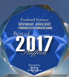 FORWARD SCIENCE RECEIVES 2017 BEST OF STAFFORD AWARD - Press Releases